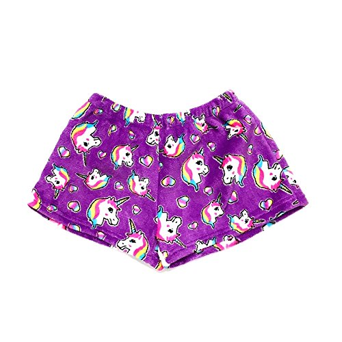 Confetti and Friends Fuzzy Plush Shorts - Pretty Unicorn - 10/12 by Confetti and Friends