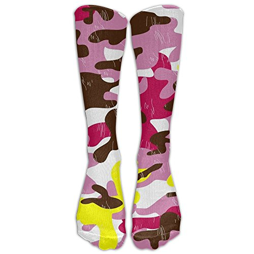 Pink Camouflage Compression Socks Soccer Socks High Socks Long Socks For Running,Medical,Athletic,Edema,Diabetic,Varicose Veins,Travel,Pregnancy,Shin - Danish Sunglasses
