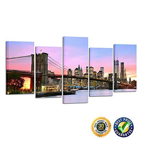 5 panel new york canvas - 8