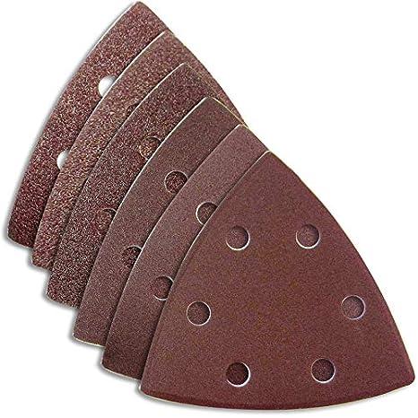 Schleifblätter 93x93x93 mm Haft Dreieck Schleifpapier Deltaschleifer Multitool