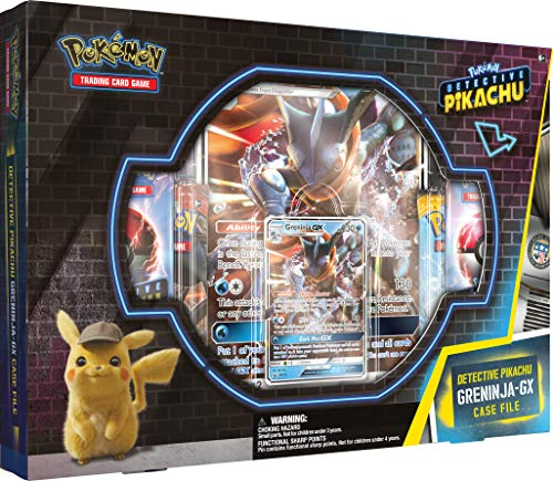 Detective Pikachu Greninja-Gx Case File: Pokemon TCG: 2 Greninja Foil Trading Cards | 7 Booster Pack (Pokemon Trading Card Box)