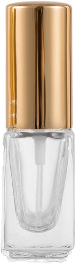 LASISZ Mini Botella de Spray de Perfume de 3 ml de Color atomizador de Vidrio atomizador de Viaje Contenedor de cosméticos Botellas Recargables vacías, Amarillo, 3 ml
