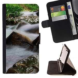 BullDog Case - FOR/Samsung Galaxy S3 III I9300 / - / Plant Nature Forrest Flower 26 /- Monedero de cuero de la PU Llevar cubierta de la caja con el ID Credit Card Slots Flip funda de cuer