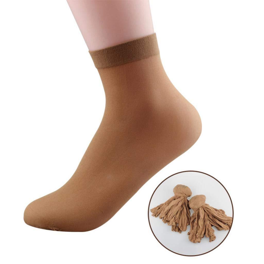 XKSIKjians Novelty Socks 10Pairs Women Men Disposable Solid Color Ankle Silk Socks for Ice Rink Foot Bath Hosiery