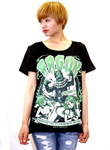 地球防衛軍秘密基地本部 怪獣Tシャツ ラゴン (黒) サイズ:S