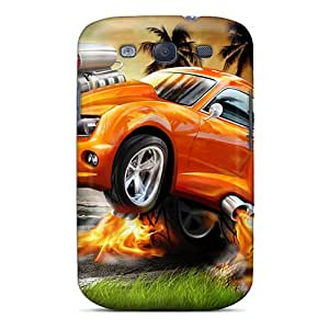 Galaxy S3 Hard Back With Bumper Silicone Gel Tpu Case Cover Chevrolet Camaro Wtb