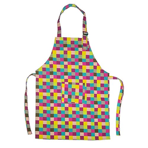 on Canvas Kids Aprons with Pocket, Artist Apron & Chef Apron(S-XXL)-Grid-S ()