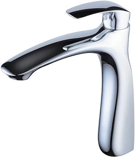 Bathroom Vessel Sink Faucet, Hiendure Bathroom Faucet Single Handle Single Hole High Arc Chromed