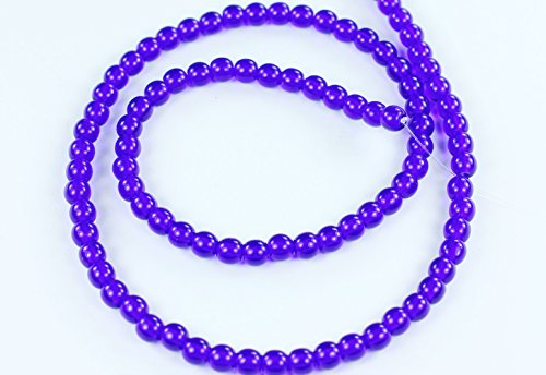100 Cobalt Blue Czech Pressed Glass Druk Round Beads 4mm Designer Czech Glass Beads