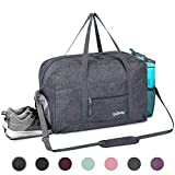 Sports Gym Bag with Wet Pocket & Shoes Compartment, Travel Duffel Bag for Men and Women Lightweight, Gray: more info