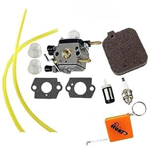 HURI Carburetor with Gasket Air Filter Fuel Line Spark Plug Fuel Filter Primer Bulb for Stihl BG45 BG55 BG85 4229 120 0606