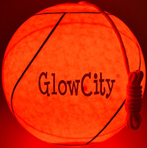 GlowCity LED Light Up Tetherball-Uses Hi Bright LED Light-Better Than Glow In The - Rope Dark