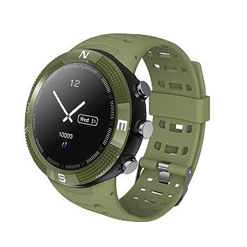 TechCode Relojes Inteligentes para Hombres, GPS Reloj en Marcha con Monitor de Ritmo cardíaco Rastreadores