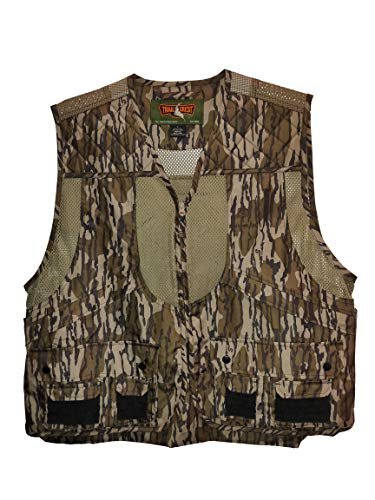 TrailCrest Mossy Oak Breakup Country/Mountain Country/Shadow Grass Deluxe Front Loader Shooting Vest (Bottomland Camo, 2X)