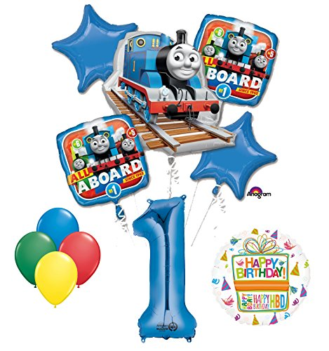 The Ultimate Thomas the Train Engine 1st Birthday Party Supplies and Balloon (Thomas The Train Birthday Supplies)