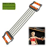 Ueasy Adjustable Chest Expander Resistance Exercise System Bands Strength Trainer for Home Gym Muscle Training Exerciser (Grey–100KG) Review