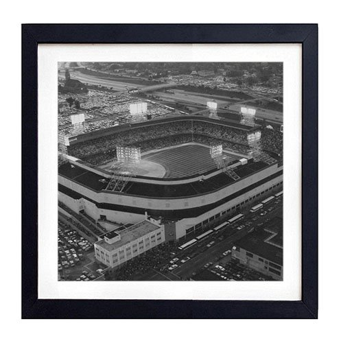 Old Tigers Stadium, Detroit, Mi - Art Print Black Wood Framed Wall Art Picture For Home Decoration - Black and White 14