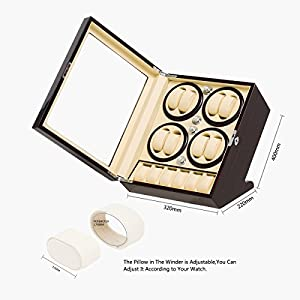 JQUEEN Watch Winder for 8 Automatic Watches with 5 Display Storage Spaces for All Size Watches