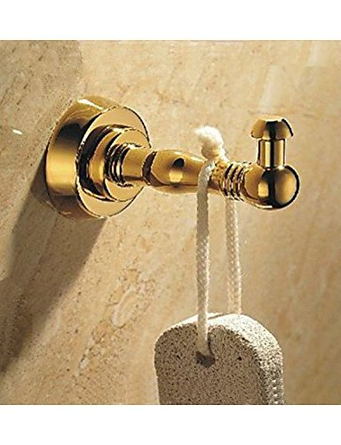 LH Bathroom Robe Hook Brass Made with Polished Gold Finish