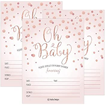 Amazon Myexpression 24 Polka Dots Gold Fill In Baby Shower