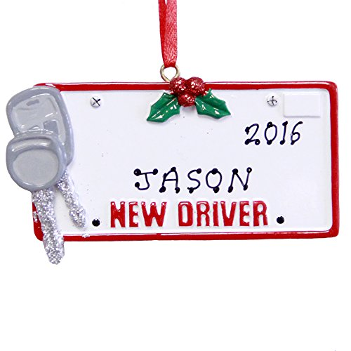 Rudolph and Me Personalized New Driver License Christmas Ornament 2019 (Best New Drivers 2019)