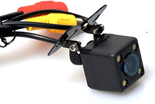 Cocar 12v Universal Kamera 4 Led Licht Nachtsicht Rückfahrkamera Frontkamera Seitenkamera Multifunktionales One Button Control Switch Vorne Hintern Seiten Pal Ntsc Distanzlinien On Off Einparkhilfe Auto