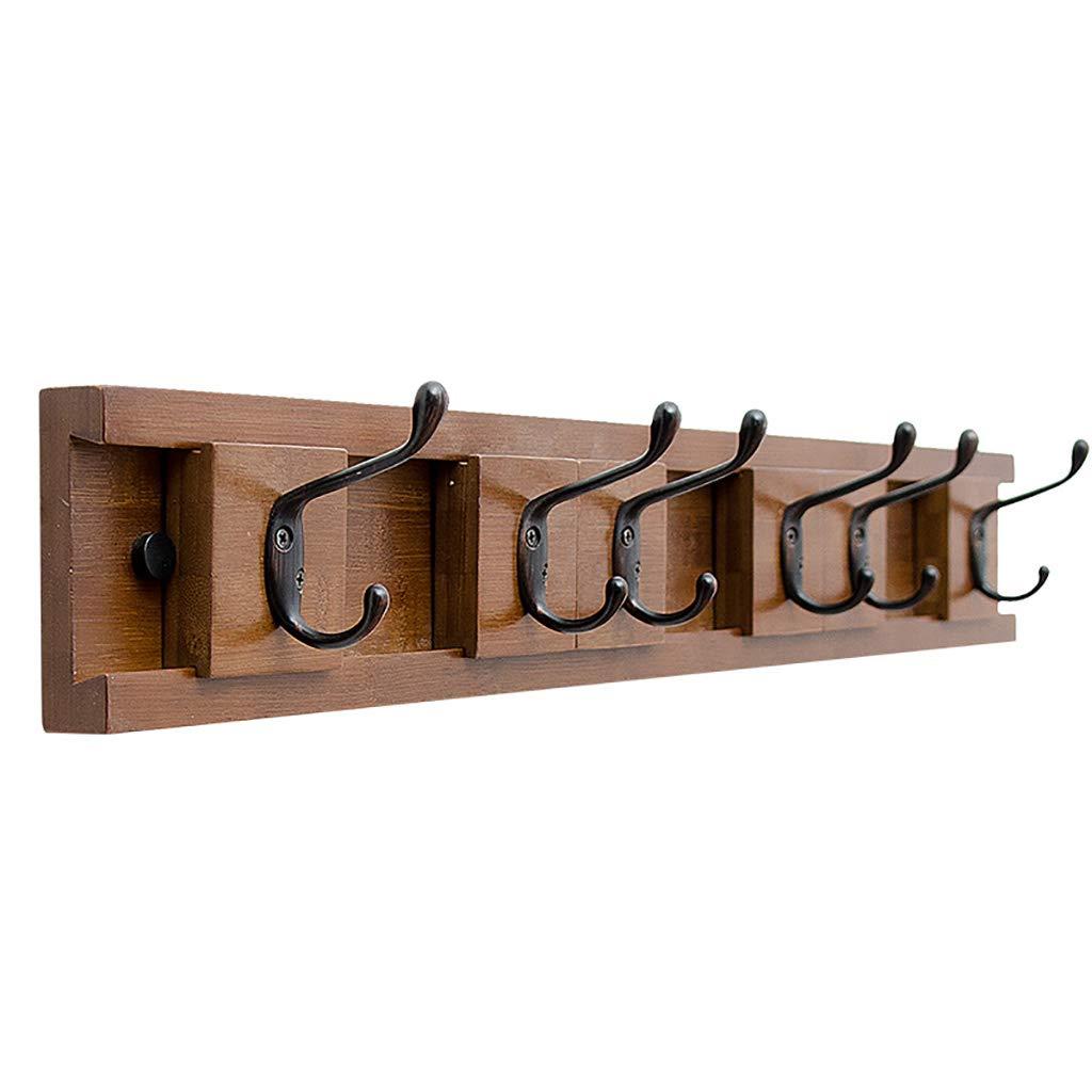 竹の壁に取り付けられたコートラック、取り外し可能なフック付き壁収納棚 (Size : 73.8cm) 73.8cm  B07PJ2TQT7