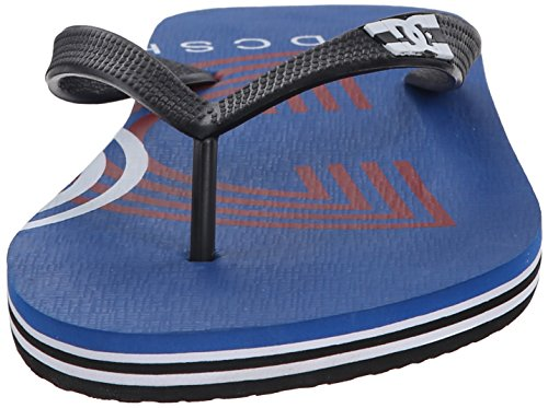 DC Mens Spray Graffik Flip-Flop Sandal Red/White/Blue F0G1At6h6