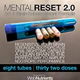 MentalReset 2.0 - 32 Doses (16-Night, 16-Day) Improve Mental Clarity. Enhance Neurogenesis. Measurably Increase Performance of Nootropics