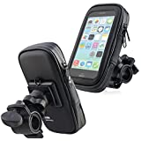 Insten Universal Motorcycle Bicycle MTB Bike Handlebar Mount Splashproof Phone Holder, Size S