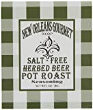 New Orleans Gourmet Foods Salt-Free Beer Pot Roast Seasoning, 1-Ounce Bags (Pack of 8)