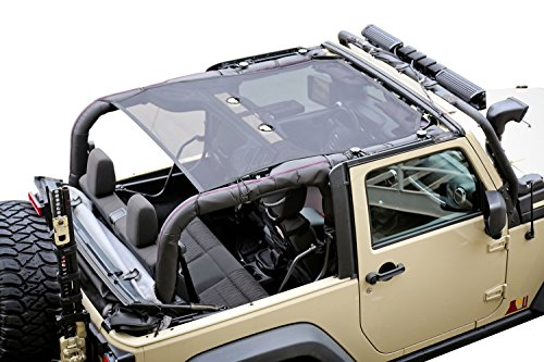Rugged Ridge 13579.06 Black Eclipse Sun Shade for Select Jeep Wrangler JK Models Eclipse Mesh
