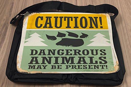 Borsa Tracolla Arredamento Cucina Animali pericolo Stampato