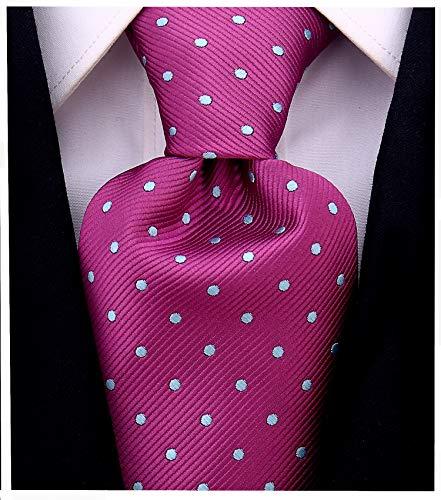 Polka Dot Ties for Men - Woven Necktie - Purple w/Blue
