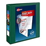 Avery Heavy Duty View 3 Ring Binder, 2' One Touch EZD Ring, Holds 8.5' x 11' Paper, 1 Green Binder (79683)