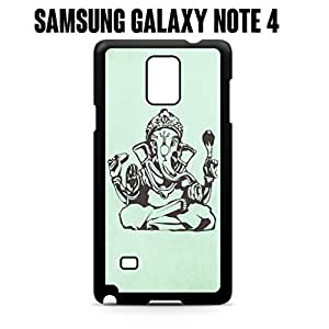 Phone Case Lord Ganesh for Samsung Galaxy Note 4 Rubber Black (Ships from CA)