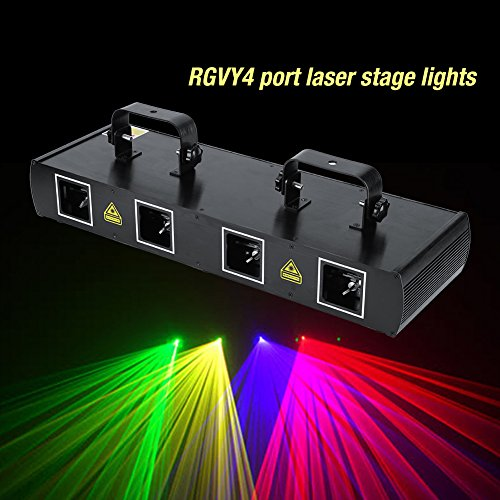 4Lens 30W Stage Light 7CH DMX512 Sound Actived Disco DJ Party LED Effect Lights US Plug 110V by Yosoo