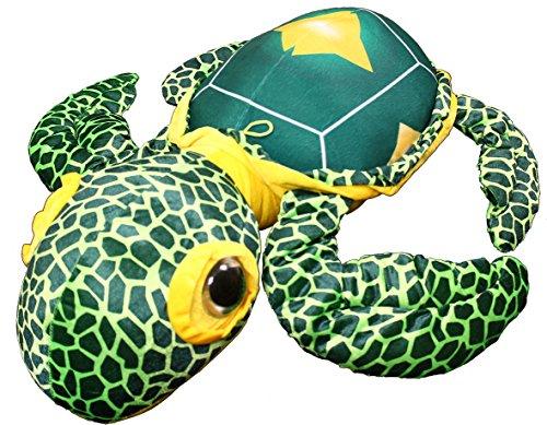 Riesen Plüsch Schildkröte mit farbenfrohem Äußeren, ca. 75 cm