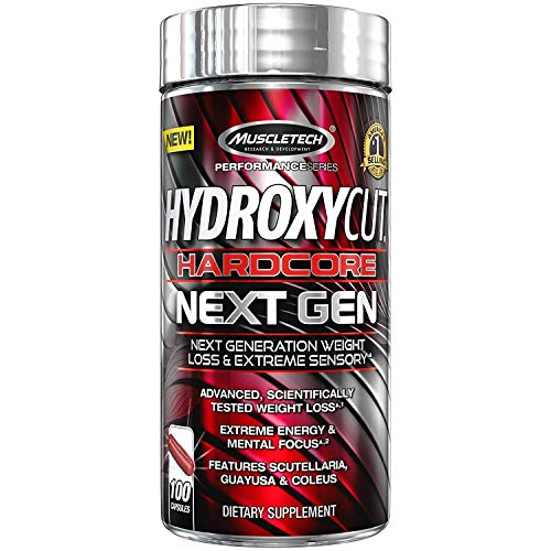 (Hydroxycut Hardcore Next Gen, Scientifically Tested Weight Loss and Energy, Weight Loss Supplement, 100 Capsules)