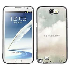 X-ray Impreso colorido protector duro espalda Funda piel de Shell para SAMSUNG Galaxy Note 2 II / N7100 - Daydreams Vignette Quote Text Summer Field