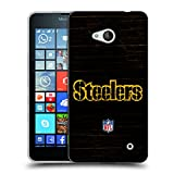 Official NFL Distressed Pittsburgh Steelers Logo Soft Gel Case for Microsoft Lumia 640 / Dual SIM