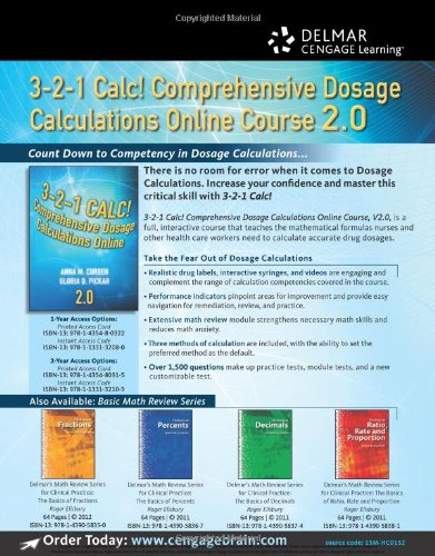 dosage calculations study guide Dosage calculation and safe medication administration used as a compliment to pharmacology made easy, this easy-to-use online study program includes tutorials, case studies and interactive drills, allowing you to learn pharmaceutical math skills at your own pace.