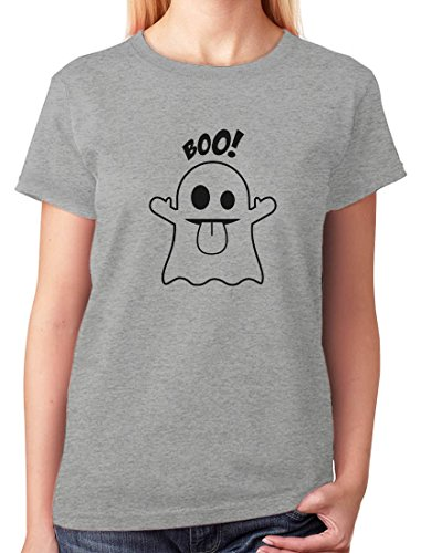 Boo Ghost Easy Halloween Costume Funny Women T-Shirt