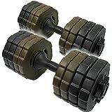 ネオダンベル 30kg (15kg 2個セット ダンベル) 筋力トレーニング/ダイエット/シェイプアップ