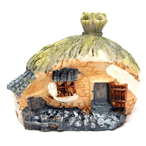SODIAL(R)Micro Resin House Fairy Cottage Garden Landscape Moss Garden Ornament