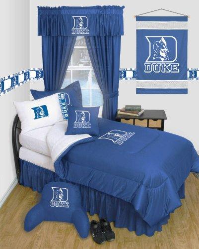 Devils Ncaa Locker Room (Duke Blue Devils 3 Piece TWIN Comforter SET- LOCKER ROOM SERIES - Includes: (1 Twin Comforter, 1 Pillow Sham & 1 Pillowcase) - SAVE BIG BY BUNDLING!)