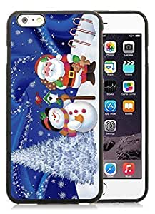 2014 Latest iPhone 5c Case,Christmas snowman Black iPhone 5c TPU Case 21