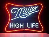 Urby™ 24''x20'' M iller L ite H igh L ife Custom Handmade Glass Tube Neon Light Sign 3-Year Warranty-Unique Artwork! GL48