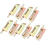 uxcell Hotel Window Door Gate Spring Latch Lock Box Bronze Tone 3.7 Inch Length 10pcs