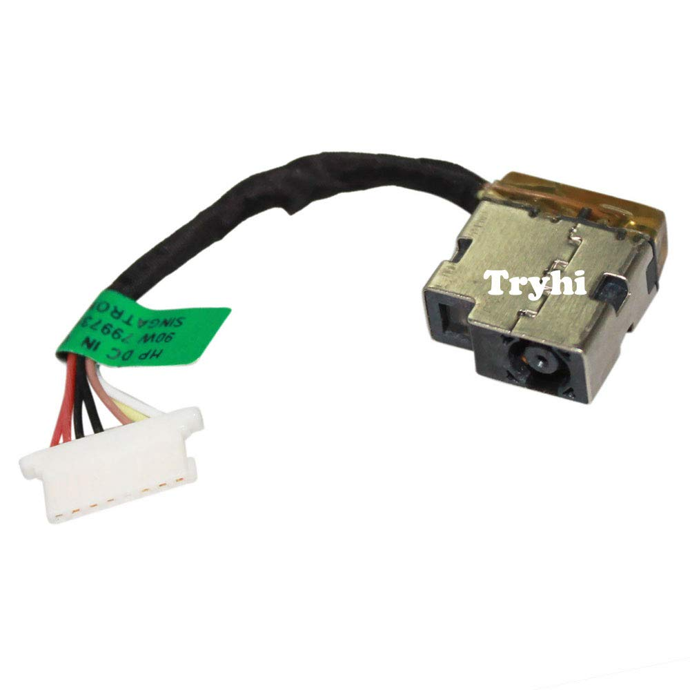 Laptop AC DC Power Jack Socket Connector with Cable Harness for HP 13-ad024cl 13-ad055nr 13-ad056nr 13-ad057nr 13-ad065nr 13-ad100ca 13-ad110ca 13-ad120nr 13-ad173cl 13-ad192ms 808155-020